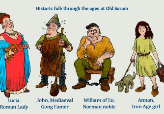 Historic-people-at-Old-Sarum-by-Jim-Kavanagh